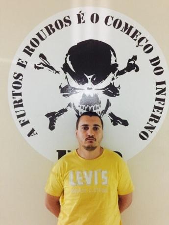 Evandro de Lima Marcolino foi preso, suspeito de ser o assassino do guarda municipal. Foto: GM