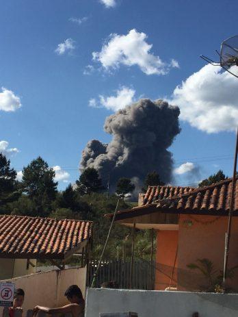 Fotos de ouvintes da CBN Curitiba com estragos provocados pela explosão